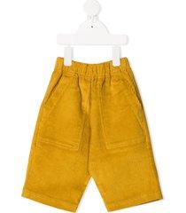 raspberry plum tailor corduroy trousers - yellow