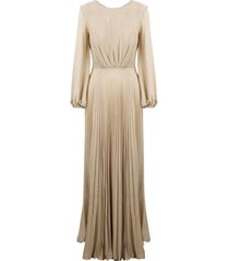 elisabetta franchi chain and charms long dress