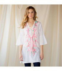 flourishes and flowers tunic