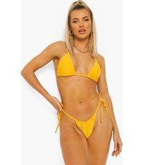 essentials klein bikini broekje met zijstrikjes, orange