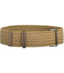 monili-embellished braided belt