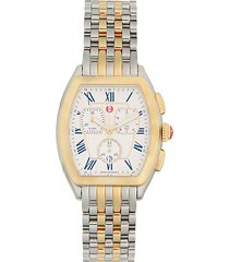 two-tone stainless steel chronograph watch