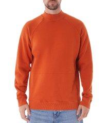 ymc touche pocket sweatshirt - rust p7mac-80