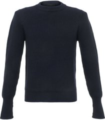 belstaff dark ink cardington crew neck jumper 71130402