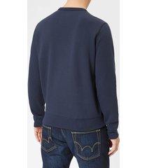 polo ralph lauren men's double knit sweatshirt - aviator navy - xl