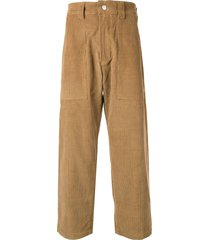 billy los angeles loose trousers with patch pocket - brown
