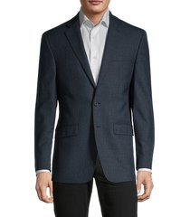 calvin klein men's slim-fit wool-blend blazer - teal - size 42 r