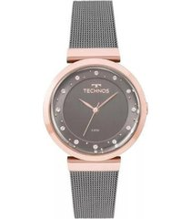 relógio feminino technos 2035mmw/4c 36mm aço