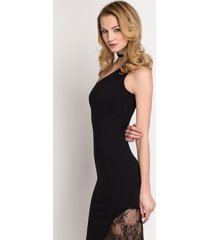 sukienka na jedno ramię czarna