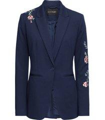 blazer in jersey con ricami (blu) - bodyflirt