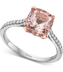 effy multi-gemstone (2-1/10 ct. t.w.) & diamond (1/10 ct. t.w.) statement ring in 14k white & rose gold