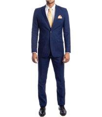 azzuro men's slim fit solid notch lapel suit