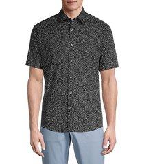 lewis speckle-print short-sleeve shirt