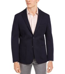 bar iii men's slim-fit navy knit sport coat, created for macy's