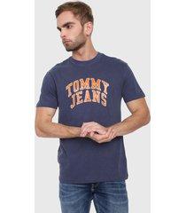 camiseta azul-naranja tommy jeans