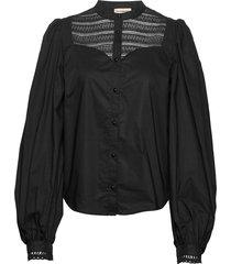 ellena blouse lange mouwen zwart custommade