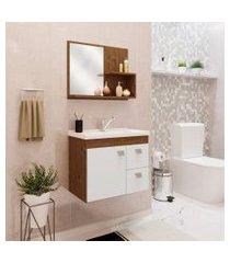conjunto de banheiro isa amêndoa e branco