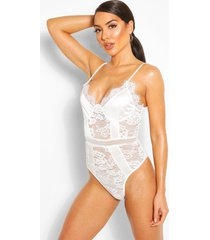 lace panelled body