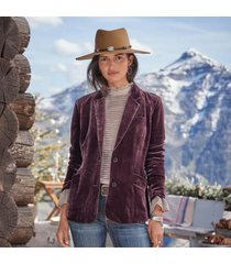 regent concept int'l ltd women's sofia velvet blazer - petites by sundance in aubergine petite 12