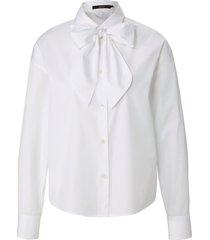 blouse van 100% katoen met lange mouwen van windsor wit