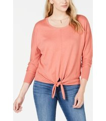 style & co petite tie-front sweater, created for macy's