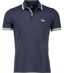 hugo boss paddy poloshirt navy regular fit