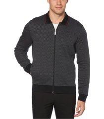 perry ellis men's printed jacquard sweater