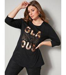 shirt sara lindholm zwart::goudkleur