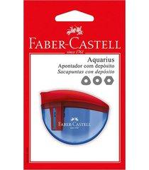 apontador faber-castell aquarius color com depósito e tampa flip-top cores diversas - item sortido