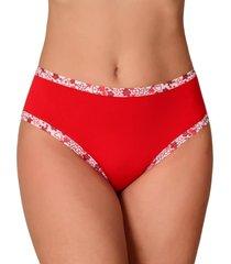 calcinha vip lingerie cintura alta algodão fio 40 vermelho