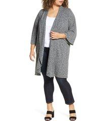 plus size women's bobeau ellen drape front cardigan