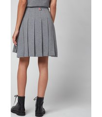 thom browne women's mini pleated skirt - med grey - it44/uk12