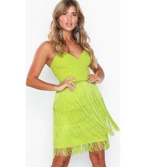 nly eve lace fringe dress loose fit
