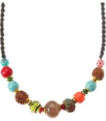collana etnica della collana della collana della corda del turchese di cristallo