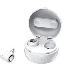 audífonos inalámbrico bluetooth, shuua mini tws que cancelan ruido con la caja de carga música estéreo envolvente auriculares - blanco