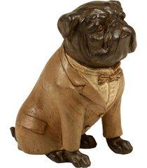 escultura decorativa de resina cachorro ralph