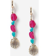 *shell drop earrings - multi