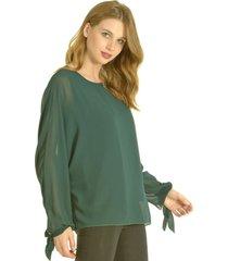 blusa lucilla verde bous