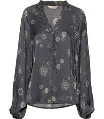 to love blouse blus långärmad grå odd molly