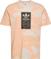 camo tongue label t-shirt t-shirts short-sleeved orange adidas originals