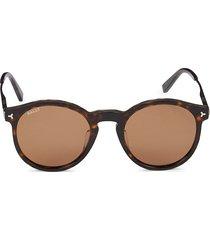 bally women's 51mm round sunglasses - havana