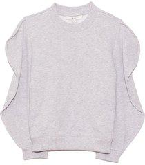 scallop sweatshirt in heather grey