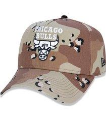 boné new era 940 chicago bulls nba bege