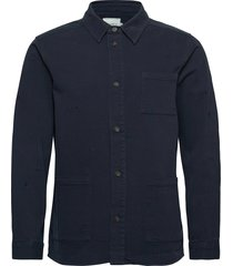 pascal embroidery hybrid overshirts blauw les deux