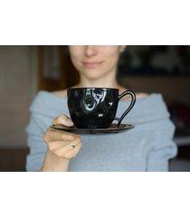 filiżanka ceramiczna czarna na kawę 270ml