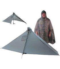 six moon designs gatewood cape - 12 oz - 1 person tarp/cape (gray)