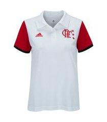 camisa polo do flamengo 2021 adidas - feminina