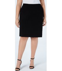 vince camuto plus size pull-on pencil skirt