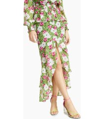 bar iii floral-print tiered ruffled skirt, created for macy's