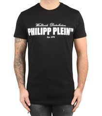 philipp plein t-shirt round neck ss original black white zwart